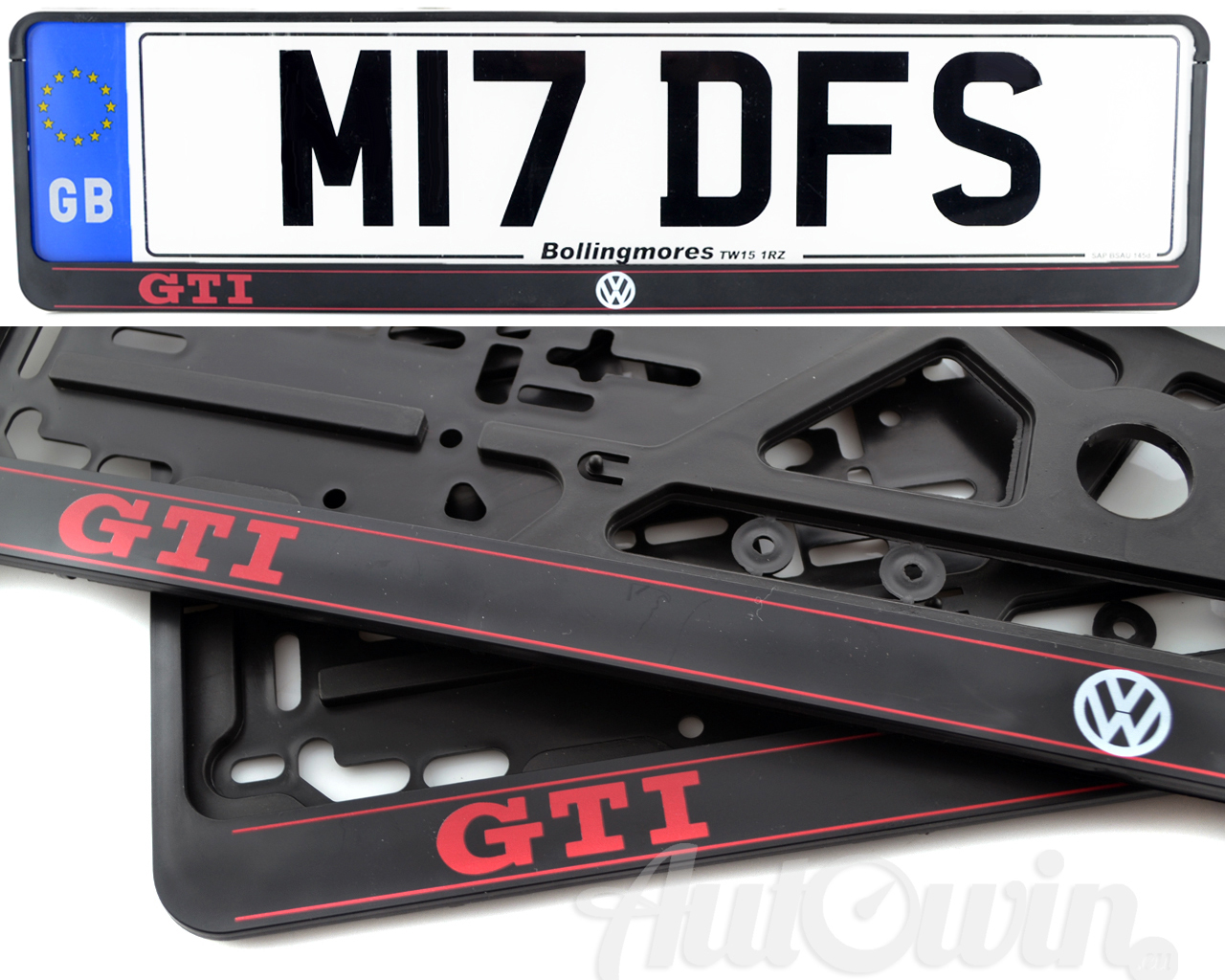 Volkswagen Golf 2015 Gti Number Plate Surrounds With Gti Logo 2pcs Ebay