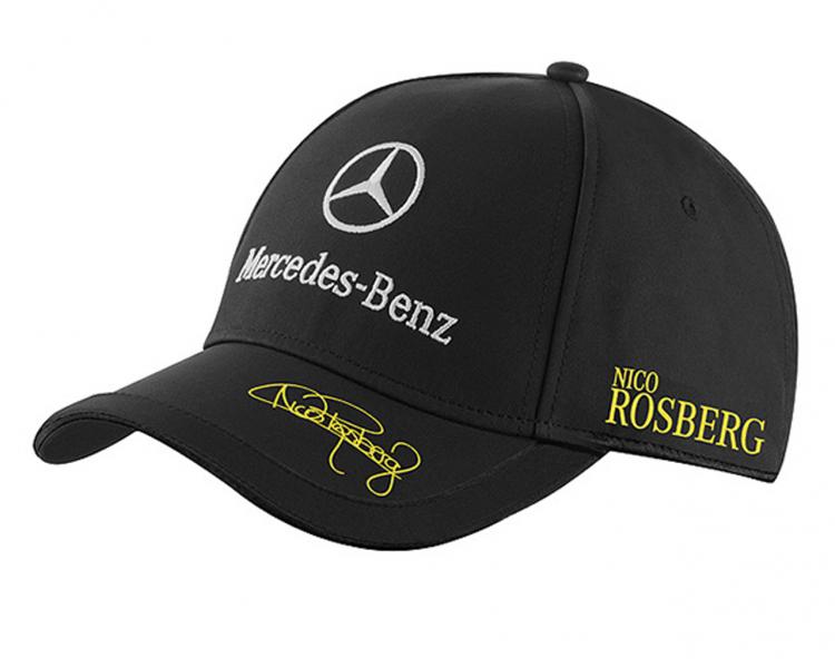 Nico rosberg baseball cap unisex black amg petronas for Mercedes benz baseball caps