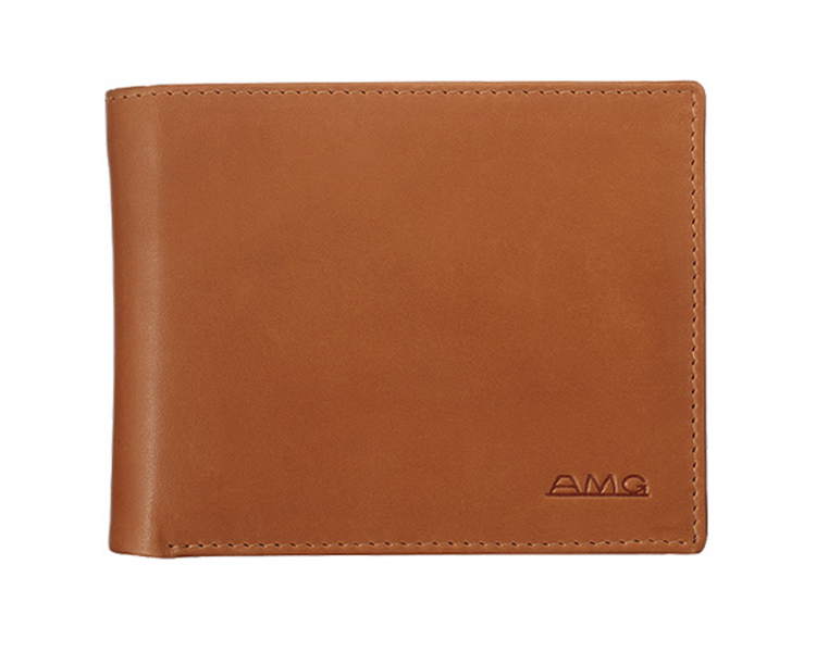 Amg vintage wallet purse made of calf leather genuine for Mercedes benz wallet