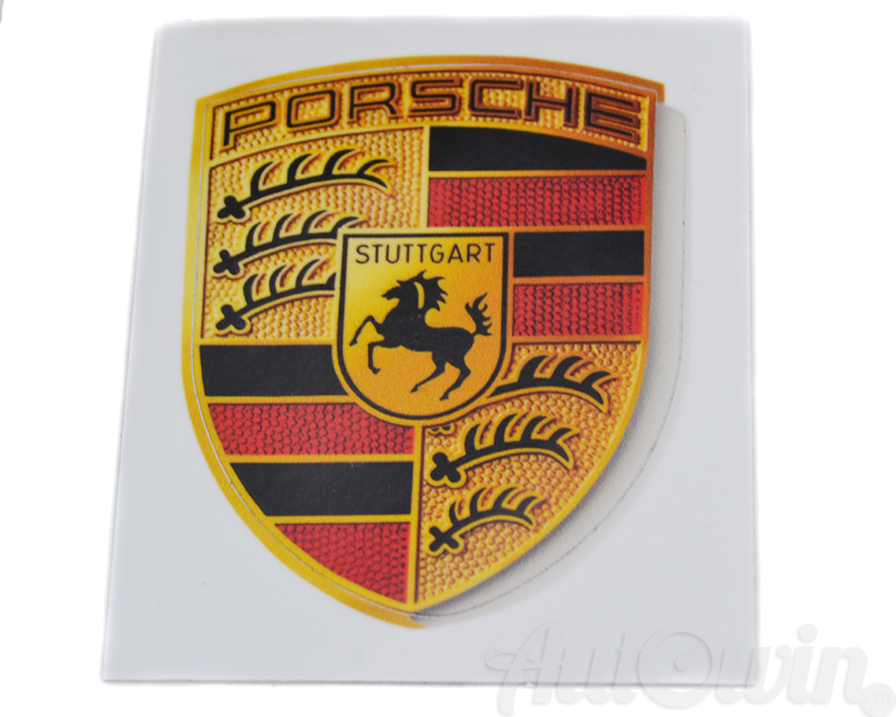 Details about brand new porsche sticker crest logo genuine oem wap013002