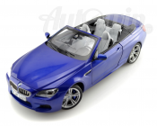BMW M6 SERIES CONVERTIBLE F12 MINIATURES 1:18 BLUE ORIGINAL OEM