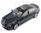 BMW 6 SERIES GRAN COUPE F12 650i MINIATURES 1 : 18 BLACK ORIGINAL OEM
