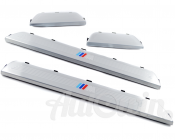 BMW 1 SERIES E87/E87 LCI GENUINE M /// SET OF ENTRANCE COVER SILL STRIPES NEW