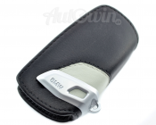 BMW Genuine Leather Key Case Fob Sport Black & Grey