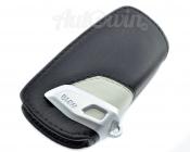 BMW Genuine Leather Key Case Fob Sport Black & Grey