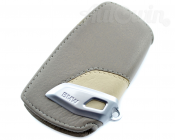 BMW Genuine Leather Key Case Fob Sport Beige & Light Grey