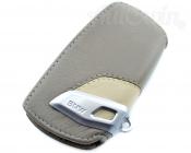 BMW Genuine Leather Key Case Fob Sport Beige & Light Grey