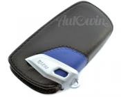 BMW Genuine Leather Key Case Fob Sport Black & Blue