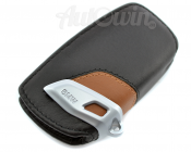 BMW Genuine Leather Key Case Fob Sport Black & Brown