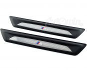 1 SERIES F21 GENUINE M /// SET OF ENTRANCE COVER SILL STRIPES ORIGINAL OEM