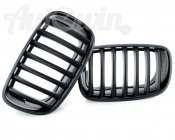 BMW Perfomance X6 E71 Genuine Front Left and Right Trim Kidney Grilles Black