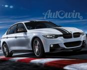 BMW 3 Series F30 M Performance Black Top Strip Upper ALL SET Sticker